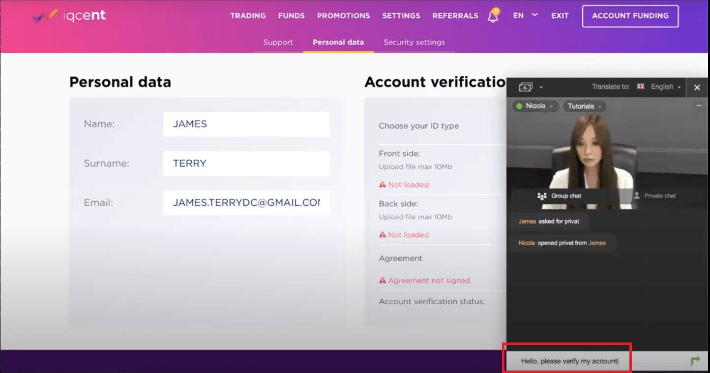 How to Register and Verify Account in IQcent